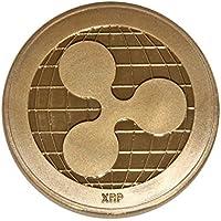 Pièce de monnaie décorative SSEELL en plaqué or avec motif ripple crypto currency - Cadeau à collectionner- Pièce de monnaie avec motif XRP pour collection