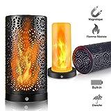 LED Lumière avec Effet Flamme, Lampe d'Ambiance sans Fil,avec d'Aimant,Résistante...