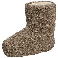 WOOLSIES Yeti Natural Wool Slipper Booties, Unisex Adults