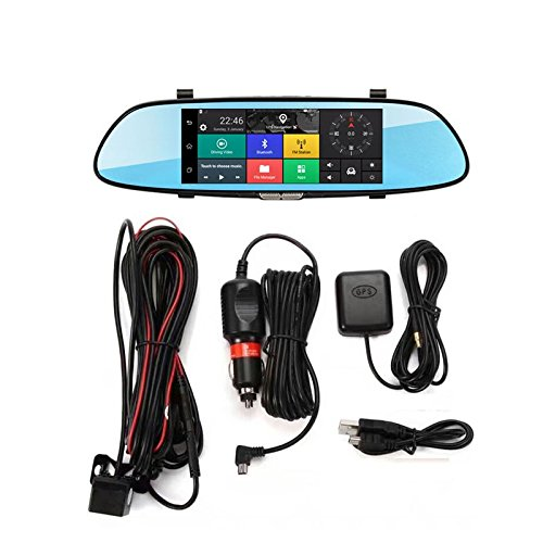 3G Car DVR Quad Core Android 5.0 Dashboard Car Camera 7 Inch Bluetooth GPS Navigation Mirror Car Recorder