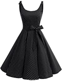 Bbonlinedress 1950er Vintage Polka Dots Pinup Retro Rockabilly Kleid Cocktailkleider
