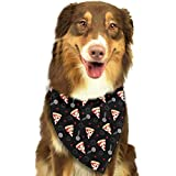 Rghkjlp Pizza Slicer Pet Bandana Washable Reversible Triangle Bibs Scarf - Kerchief for Small/Medium/Large Dogs & Cats