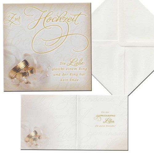 Zur Hochzeit Karte Aufklappkarte Trauringe inkl. Briefumschlag Hochzeit