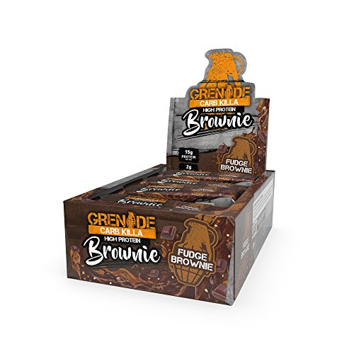 Grenade Carb Killa High Protein Brownie 12 x 65g - Fudge Brownie 12 Fudge brownie