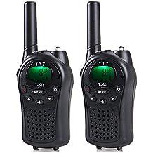 Walkie Talkies 2 pezzi 5Km Lungo raggio Radio bidirezionale 8 canali Ricetrasmittente Walky Talky, con Clip da cintura, Avviso di chiamata, Torcia elettrica