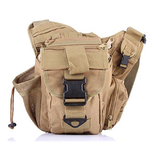 LF&F Backpack Mehrzweck- Militär-Fans taktische Satteltaschen Taschen Outdoor-Freizeit Schulter Messenger Rucksack Wanderrucksack B