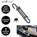 #5: AllExtreme Heavy Duty Pedal to Steering Wheel Lock Rod for Brake Clutch Throttle Adjustable Universal Anti Theft Security Locker System with Keys for Car Truck SUV Van