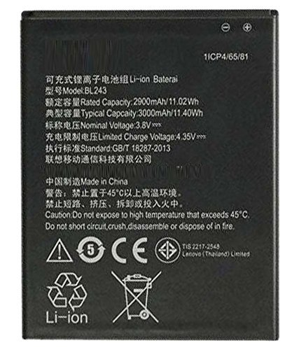 G2U Battery for Lenovo A7000 K3 Note BL 243 with Warranty