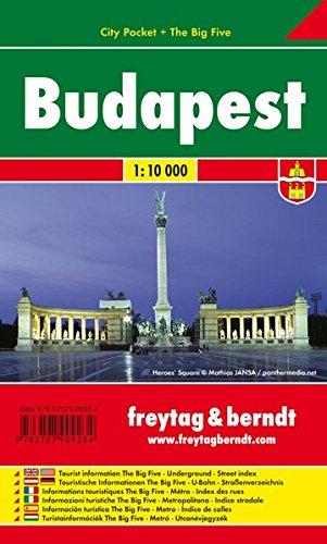 Budapest, plano callejero de bolsillo plastificado. City Pocket. Escala 1:10.000. Freytag & Berndt. por VV.AA.
