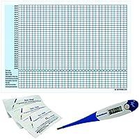 Preisvergleich für Thermometer Domotherm 0830 Rapid mit 5 Zykluskalendern und 5 One+Step Schwangerschaftstests