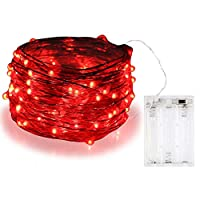BOLWEO Battery Powered Fairy String Lights,10ft/3M 30LEDs,Red Ambiance Lighting for Party Wedding Holiday Christmas New Year