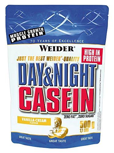 #Weider Day & Night Casein Protein, Vanille-Sahne (1 x 500 g)#