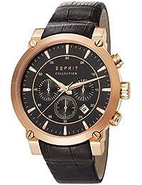 Esprit - EL102121F06 - Montre Homme - Quartz - Chronographe - Alarme/Chronomètre - Bracelet Cuir Noir