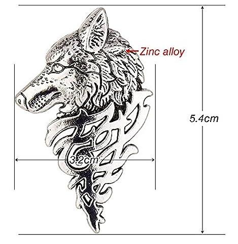 Kauf 2 und bekomme 1 gratis! 5cm Silver dire wolf brooch Hochwertig Game of Thrones Brosche, Hand To The King Tywin Lannister, verschiedene Designs, Modeschmuck, Silber oder Gold, Vintage