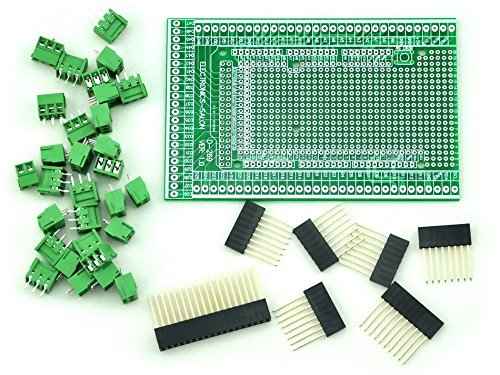 electronics-salon Prototype Screw/terminal block Shield Board kit per Arduino mega-2560R3.