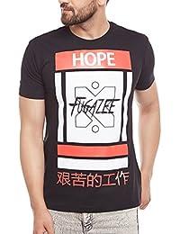 FUGAZEE Printed Curved Hem T-Shirt