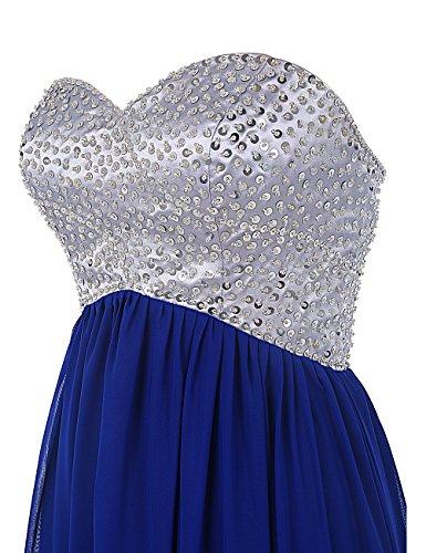 Dresstells, robe de soirée, robe de demoiselle d'honneur longue en mousseline avec paillettes Champagne