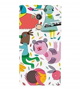 Nextgen Designer Mobile Skin for Gionee Elife E8 (Babies Piano Painted Imaginary Illusionary)