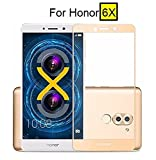 #6: Dashmesh Shopping Tempered Glass Screen Protector Full Cover Edge-to-Edge(Gold) for Honor 6X