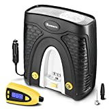 NAVISKAUTO Digital Tyre Inflator with Pressure Gauge 100PSI, LED Display Electric Portable Tire Pump 12V Support 1 Minute Fast Inflation,with Carry Bag