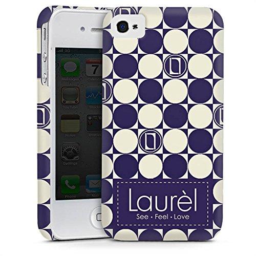 Apple iPhone 4 Housse Étui Silicone Coque Protection Parler de logomanie Laurel Cas Premium mat