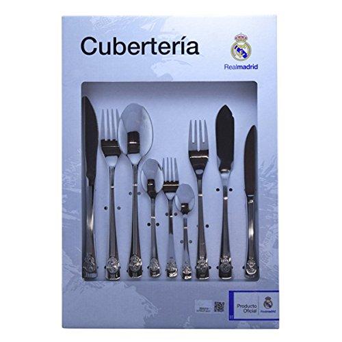 CUBERTERIA REAL MADRID 54 PIEZAS, ORIGINAL -