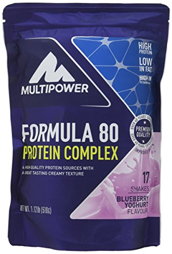Multipower Formula 80 Protein Complex, Blueberry Yoghurt, 510 g (Huhn Protein)