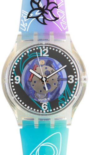 Swatch SUJK122 - Orologio da polso da donna, cinturino in caucciù multicolore