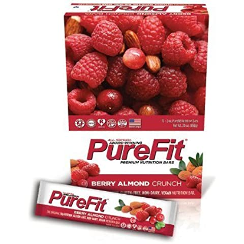 Purefit Nutrition Bars PureFit Nutrition Bar Berry Almond Crunch 15 bars by Purefit Nutrition Bars