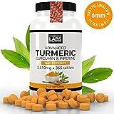 1 YEAR supply, Triple Strength Advanced Turmeric Curcumin & Black Pepper Piperine 1,410mg 365 x tablets, UK MADE from Cambridge Labs Ltd