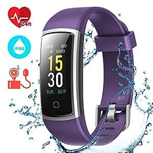 CHEREEKI Pulsera Actividad, Pulsera de Actividad con Monitor Ritmo Cardíaco