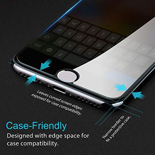 Beikell Protector Pantalla para iPhone 7/8/6S/6,  [4 Piezas] Protector de Pantalla Vidrio Templado Premium Dureza 9H Alta Definicion Anti- rasguños Compatible 3DTouch para iPhone 7/8/6S/6