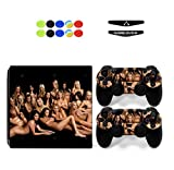 Skin for PS4 PRO, Chickwin Skin Vinyl Autocollant Sticker Decal pour Playstation 4 Pro console and 2 Dualshock Manette Set + 10pc Thumb Grips + 2pc Light Bar au hasard (Sexy Filles)