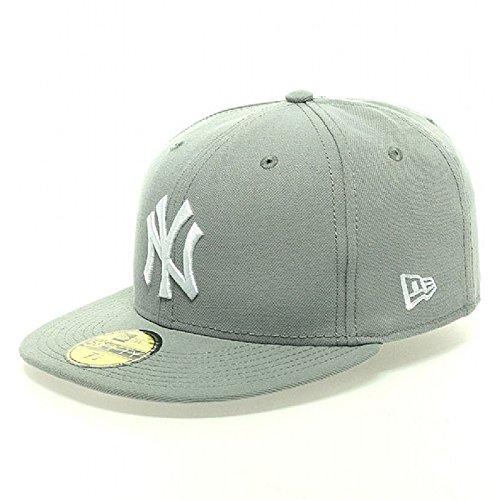 Gorra plana gris ajustada 59FIFTY Essential de New York Yankees MLB de New  Era -. 48e386d0549