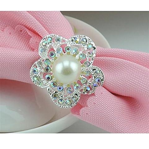 Anneau de serviette anneau de serviette en diamant en perles en diamant set de 10