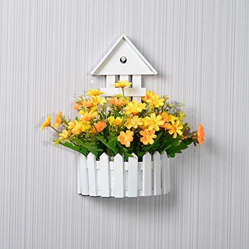 Lx.AZ.Kx Supporto di montaggio a parete per l'Emulazione di fiori Flower Kit falsi, decorazioni floreali del fiore il soggiorno è arredato Flowersc)
