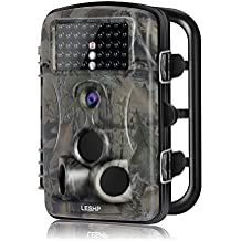 elepawl caza cámara de caza, vida silvestre juego cámara 12MP 1080P HD con lapso de tiempo 65ft 120° gran angular visión nocturna por infrarrojos 42IR Leds 2.4LCD Protector de escultismo cámara cámara, diseño de ciervo