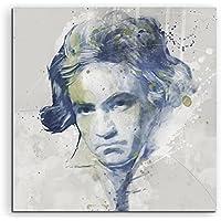 Beethoven Aqua 60x 60cm–Splash Art Paul Sinus