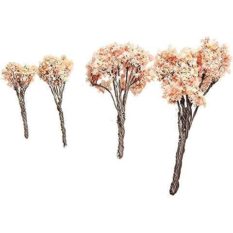 Bluelover 4 tamaño DIY paisaje Minni cereza bosque en maceta de decoración de jardín de plantas-12 cm