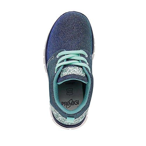 Primigi  7585-600, Chaussures de ville à lacets pour fille Blau Kombi