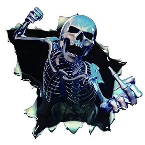 uto Aufkleber Scary Funny Skeleton Pattern Removable Auto Aufkleber ()