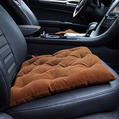WanJiaMen'Shop 12-V-Heizung Kissen Sitzheizung Pad Auto Winter Kein Zurück Elektrische Matte Kissen 12 v, Braun