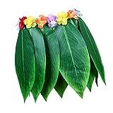perfeclan Mode Blätter Hawaii Rock Bastrock Hula Rock für Tanzparty Eröffnungsfeier Kostümparty Abschluss Spielcheerleader usw.