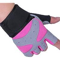 DEI QI La Sra. Half Finger Gloves Fitness Equipment Yoga Elongate Muñequera Wear Guantes Antideslizantes Riding Thin Transpirable Wear Antideslizante Amortiguación