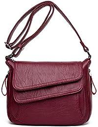 5c9c6c83f9005 JHMY Womens Soft Leder Handtaschen Grosser Kapazität Retro Vintage Top-Griff  Lässige Shopper Taschen