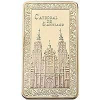xinzhi - Colección de Regalo de Moneda Conmemorativa con diseño de bullión en Forma de Iglesia de Oro