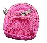 BZLine® Mini Schultasche Rucksack Rucksack Zubehör für Barbie-Puppe (Hot Pink)