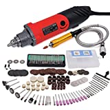GOXAWEE 240W Die Grinder Kit Variable Speed Multi-functional Electric Drill Set For Woodworking Carving Engraving Polishing, Rotary Grinding Tool With Flexible Shaft and 170pcs Rotary Tool Accessories