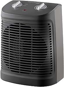 Rowenta SO2320F2 Radiateur et Ventilateur Soufflant Instant Comfort Compact Chauffage d'Appoint et Ventilation Chaud Froid 2 Vitesses 2000W Silencieux Gris