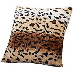 Uesae Funda de cojín con estampado de leopardo, funda de almohada de 43 x 43 cm, funda de almohada, funda de almohada de leopardo para el hogar, oficina, sofá, coche, dormitorio decoración, Style a, 43*43cm